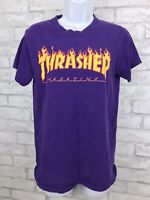 Vintage Thrasher Magazine Short Sleeve T-Shirt Skateboarding - Purple Size Small