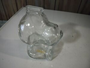 Glass Snoopy Bank 6 1/4 Inches Tall