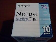 10 New Minidisc Sony Neige 74