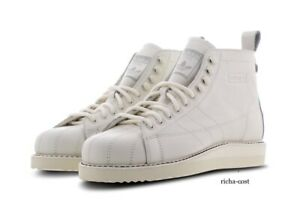 ADIDAS SUPERSTAR ORIGINALS WOMAN'S LEATHER BOOT B28162 WHITE ALL SIZES IMM DEL