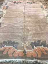 Rétro Art Déco Moderne népalais taille: 370x270 Cm Tapis Tapis Fait main laine