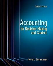 Accounting for Decision Making and Control, Good Books