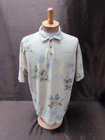 TOMMY BAHAMA men's size L 100% cotton SS Short sleeve Shirt polo Hawaiian