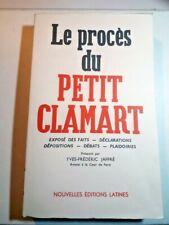 LE PROCÈS DU PETIT CLAMART Y-F. JAFFRE Nlle Ed° LATINE 1963 TBE 1er Édition