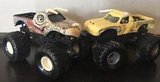 Lot Of 2 Hot Wheels Monster Jam Toy Trucks JURASSIC ATTACK & BULLDOZER 1:64