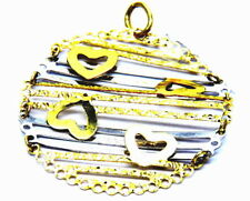 Pendant Gold 18KT Pattern With Hearts
