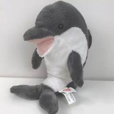 """Melissa & Doug Dolphin Grey White Plush Stuffed Animal Toy 12"""" Tall"""