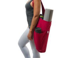 US Yoga Bag Mat Tote Carrier Exercise Strap Full Zip Shoulder Bag Large Portable