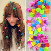 100pcs Butterfly Heart Hair Clip Claw Barrettes Mini Clamps Hairpin Headdress