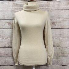 Daniel Caron 100% Cashmere Turtleneck Pullover Sweater To Small