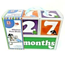 Milestone Photo Blocks Baby Week Month Year Easter Baby Shower New Baby Gift
