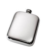 6oz Plain Pewter Pocket Flask