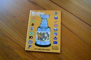 1974 Stanley Cup Playoffs Game 1 Program Boston Gardens Bruins Vs Toronto