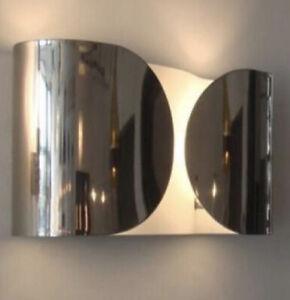 Flos Foglio Chrom Wandleuchte, Designerlampe