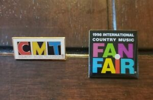 Country Music Television CMT + 1998 International Country Music Fair Lapel Pins
