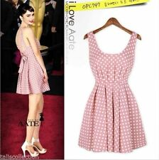 Unbranded Chiffon Polka Dot Machine Washable Dresses for Women