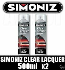 Simoniz Spray Paint Aerosol 500ml Can Clear Lacquer x2