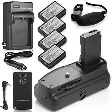 Battery Grip for Canon EOS 1100D 1200D Rebel T3 T5 + 4 LP-E10 Batteries +Charger