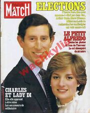 Paris Match n°1674 du 26/06/1981 Lady Di Charles Audrey Hepburn Miss France