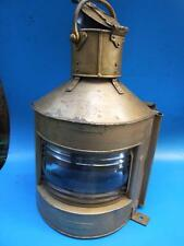 Antique Large  British Royal Navy Ship Metal-Brass  Oil Lamp  Starboard C.1944's