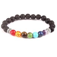 7 CHAKRA HEALING Balance ENERGY Yoga Meditation Bracelet Unisex USA Seller!