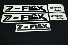 NOS Z-Flex JAY ADAMS DESIGN Vintage 70's Skateboard Decal Set - Black Stickers