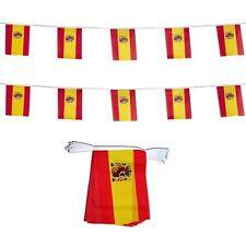 DECORAZIONE BANDERUOLE 12 GAGLIARDETTI SPAGNA 15 X 20 cm bandiera maglia