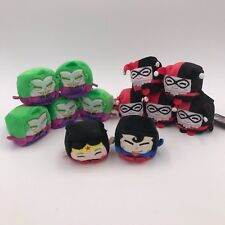 "Lot of 12 Wish Factory DC Kawaii Cube Mini 2.5"" Plushes ~ Joker Harley Quinn"
