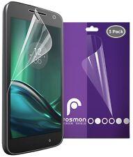 Fosmon 3x Ultra HD Clear Screen Protector Guard Film for Motorola Moto G4 Play