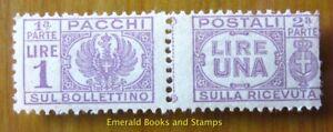 EBS Italy 1946 Pacchi Postali 1 Lira - Unificato 60 MNH**