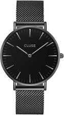 CLUSE Uhr CL18111 La Bohéme Damen schwarz Meshband Edelstahl schwarz Neu