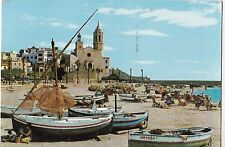 BF22468 sitges barcos en la playa ship  spain front/back image