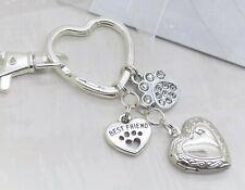 Pet Sympathy Gift Memory Keyring Bag Charm Keepsake Cat Dog Loss