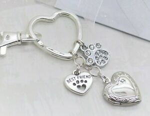 Pet Sympathy Gift Memory Keyring Bag Charm Keepsake Cat Dog Loss