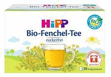 Hipp Bio Fenouil thé pour bébés 20 X Intercalaires. Fabriqué en Suisse.