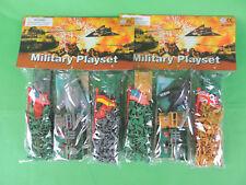Plastik Soldaten Set 1:72 Militär Panzer Düsenjet  ca. 340teilig 2 Beutel