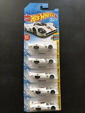 Hot Wheels Porsche 917 LH 2018 Legends of Speed 8/10 White (5 Cars)