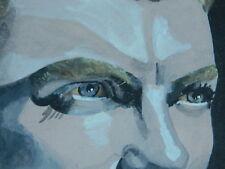 Art Peinture gouache Portrait de Jean MARAIS signé M. Giordano