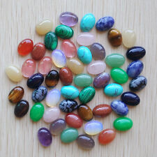 Wholesale 50pcs/lot Assorted natural stone mixed oval CAB CABOCHON beads 10x14mm