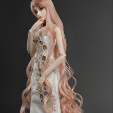 """Dollmore  1/3BJD OOAK Supplier SD wig (8-9)""""  Rapunzell Long Wig (Coral)"""