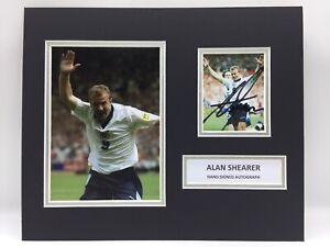 RARE Alan Shearer England Signed Photo Display + COA AUTOGRAPH NEWCASTLE NUFC