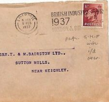Jj21 Gb Keviii Perfin Cover 1937 *Ghf* Liverpool Identified {samwells-covers}