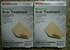2 Scar Treatment by Mepiform. 3 Trim-to-fit Dressings. (5cm x 7.5cm) Exp 4/20+