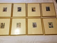 Lot of 8 Framed & Matted Color Prints Famous People Robin Hood, William Tell etc