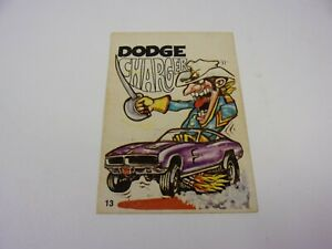 PRE OWNED VINTAGE DONRUSS ODDER ODD RODS CARD DODGE CHARGER #13 W/DISCOLORED
