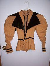 Antique Victorian Jacket Velvet Trim Clothing c.1885