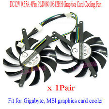 2X DC12V 0.35A 4Pin PLD08010S12HH Graphics Card Cooling Fan Für MSI POWER LOGIC