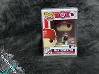 Funko Pop! #16 Max Scherzer (MLB Washington Nationals) Home Jersey w/ protector