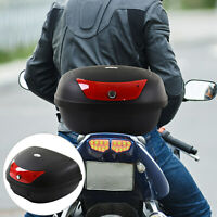 48L Motorcycle Trunk Travel Luggage Storage Box Accessory For 2 Half Helmet