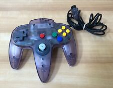 N64 Nintendo 64 Atomic/Clear Purple Controller - Good stick.